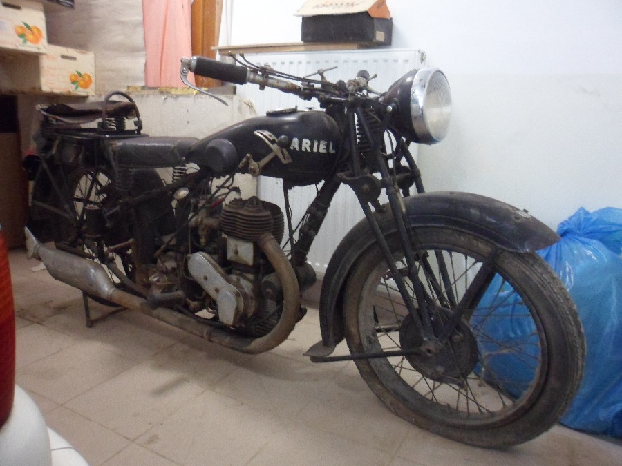 1930-as ARIEL 500 veterán motor