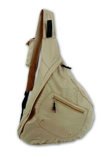 de78e0aa95ae Reklámtárgy - Egyvállas, cipzáras hátizsák - bézs